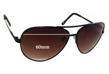 Sunglass Fix Sunglass Replacement Lenses for Serengeti Large Aviator - 60mm Wide  x 50.7mm Tall