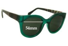 Sunglass Fix Sunglass Replacement Lenses for Silvano 54x20x146 - 54mm Wide