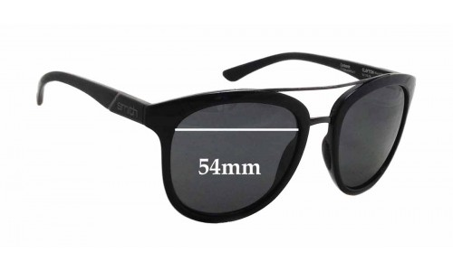 Sunglass Fix Sunglass Replacement Lenses for Smith Clayton - 54mm Wide x 45mm Tall