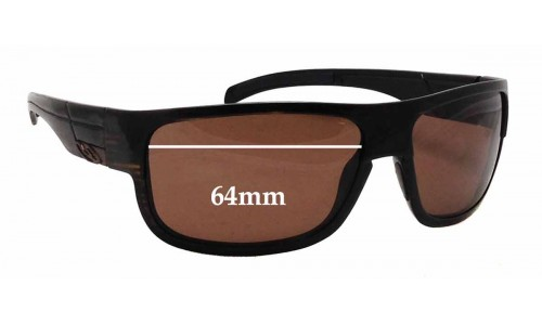 Sunglass Fix Sunglass Replacement Lenses for Smith Collective - 64mm Wide