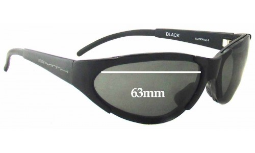 Sunglass Fix Sunglass Replacement Lenses for Smith Slider SL-2 - 63mm Wide