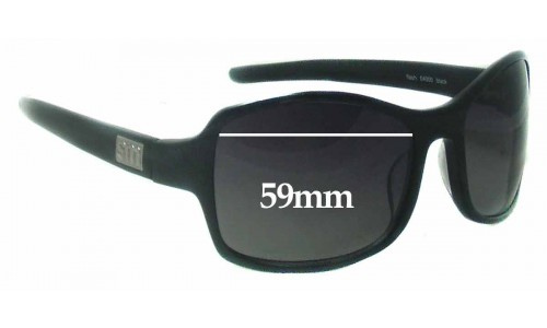 Sunglass Fix Sunglass Replacement Lenses for Smoke & Mirrors Flash - 59mm Wide