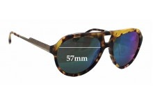 Sunglass Fix Sunglass Replacement Lenses for Stella McCartney SM4047 - 57mm Wide