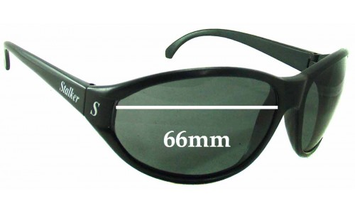 Sunglass Fix Sunglass Replacement Lenses for Stalker Unknown - 66mm Wide