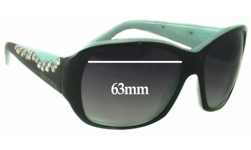 Sunglass Fix Sunglass Replacement Lenses for Tiffany & Co TF 4016-B - 63mm Wide