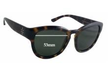 Sunglass Fix Sunglass Replacement Lenses for Tory Burch TY9040 Sunglass Replacment Lenses - 53mm Wide - 43mm Tall