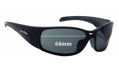 Sunglass Fix Sunglass Replacement Lenses for Ugly Fish Armour P 5066 - 64mm Wide