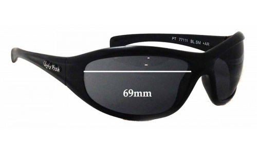 Sunglass Fix Sunglass Replacement Lenses for Ugly Fish PT77111 - 69mm Wide