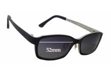 Sunglass Fix Sunglass Replacement Lenses for Ultem Abba 1304 - 52mm Wide x 32mm Tall