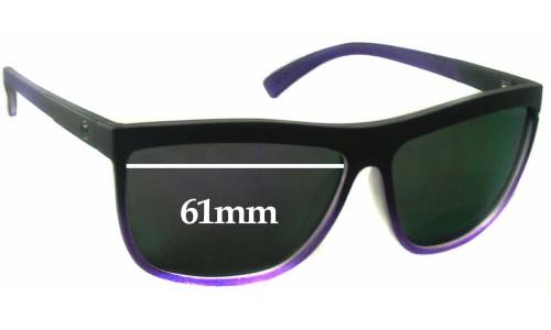 Sunglass Fix Sunglass Replacement Lenses for Von Zipper Luna Frostbyte - 61mm Wide