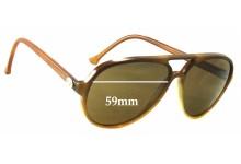 Sunglass Fix Sunglass Replacement Lenses for Vuarnet Pouilloux PX2000 - 59mm Wide
