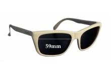 Sunglass Fix Sunglass Replacement Lenses for Vuarnet Pouilloux VL0006 - 59mm Wide