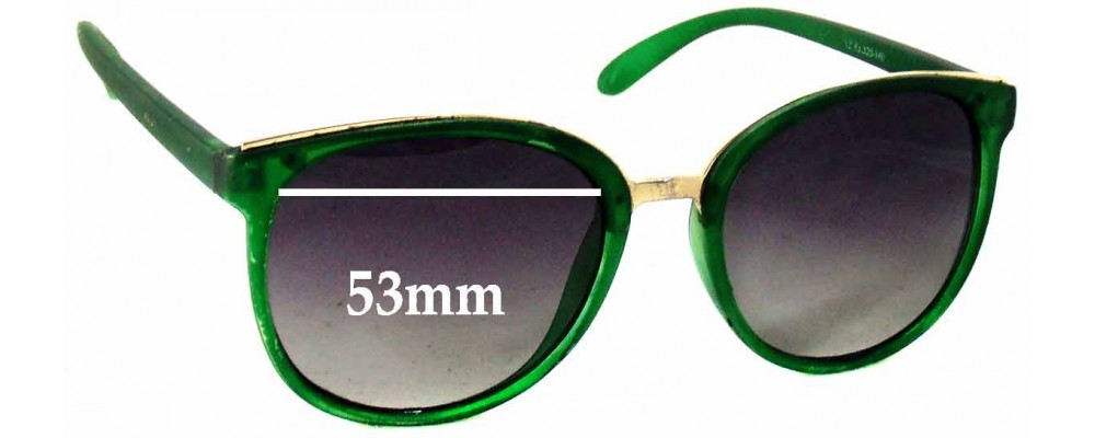 Sunglass Fix Sunglass Replacement Lenses for Dolce & Gabbana Unknown Model - 53mm Wide