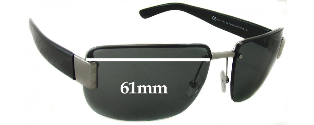 Sunglass Fix Sunglass Replacement Lenses for Gucci GG1798 - 61mm Wide
