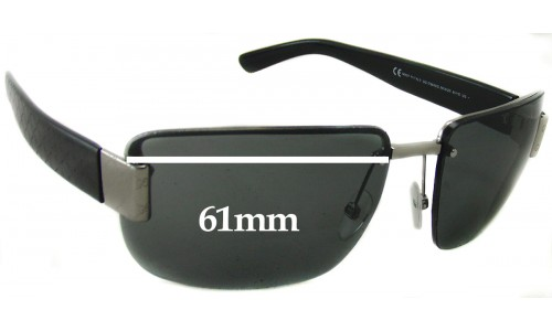 Sunglass Fix Sunglass Replacement Lenses for Gucci GG1798 - 61mm Wide