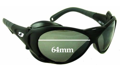 Sunglass Fix Sunglass Replacement Lenses for Julbo Explorer L - 64mm Wide