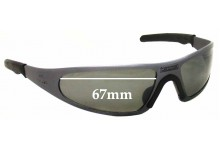 Sunglass Fix Sunglass Replacement Lenses for Player - no specific model - 67mm Wide x 36mm Tall