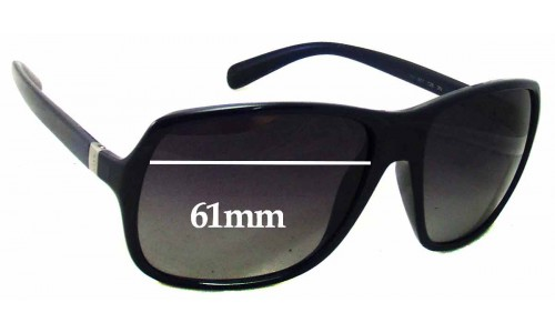 Sunglass Fix Sunglass Replacement Lenses for Prada SPR 07N - 61mm wide