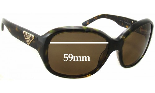 Sunglass Fix Sunglass Replacement Lenses for Prada SPR10M - 59mm wide