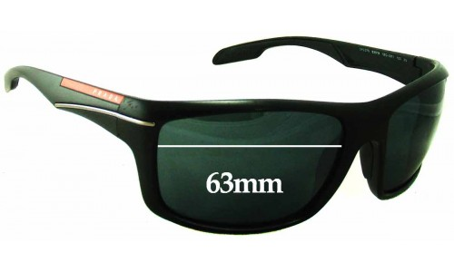 Sunglass Fix Sunglass Replacement Lenses for Prada SPS 01N - 63mm Wide
