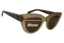 Sunglass Fix Sunglass Replacement Lenses for Quay Australia Kitti - 48mm Wide