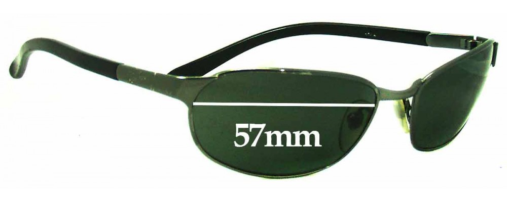 Sunglass Fix Sunglass Replacement Lenses for Ray Ban RB3146 - 57mm Wide