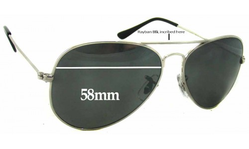 Sunglass Fix Sunglass Replacement Lenses for Ray Ban B&L RB1103 - 58mm Wide