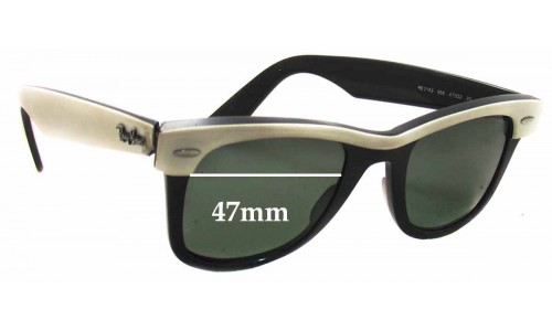 Sunglass Fix Sunglass Replacement Lenses for Ray Ban RB2143 Wayfarer - 47mm wide lenses