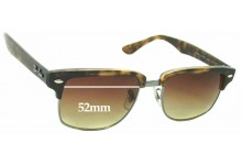 Sunglass Fix Sunglass Replacement Lenses for Ray Ban Clubmaster RB4190 Square - 52mm Wide