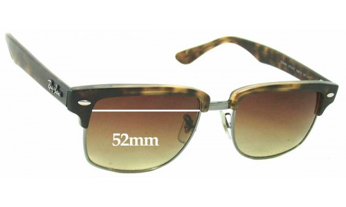 Sunglass Fix Sunglass Replacement Lenses for Ray Ban RB4190 Clubmaster Square - 52mm Wide