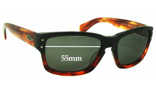 Sunglass Fix Sunglass Replacement Lenses for Smith Chemist/S - 55mm Wide