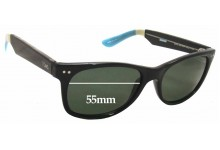 Sunglass Fix Sunglass Replacement Lenses for Toms Beachmaster S001L - 55mm Wide
