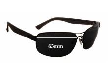 Sunglass Fix Sunglass Replacement Lenses for Vuarnet Pouilloux VL1117 - 63mm Wide
