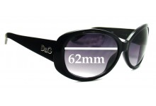 Sunglass Fix Sunglass Replacement Lenses for Dolce & Gabbana DG8081 - 62mm Wide