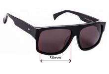 Sunglass Fix Sunglass Replacement Lenses for AM Eyewear Berko - 58mm Wide