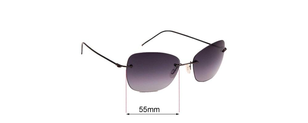 Sunglass Fix Sunglass Replacement Lenses for Maui Jim MJ717 Apapane - 55mm