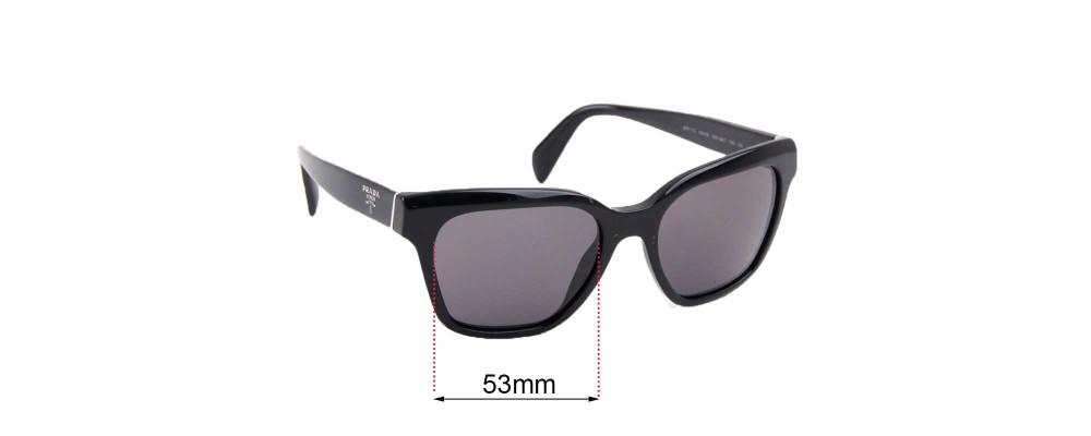 Sunglass Fix Sunglass Replacement Lenses for Prada SPR11S - 53mm Wide