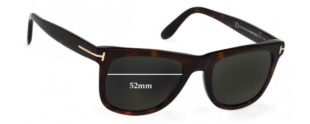 1d0dbbb9f708 Sunglass Fix Sunglass Replacement Lenses for Tom Ford Leo TF0336 - 52mm Wide