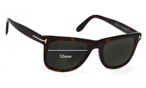 Sunglass Fix Sunglass Replacement Lenses for Tom Ford Leo TF0336 - 52mm Wide