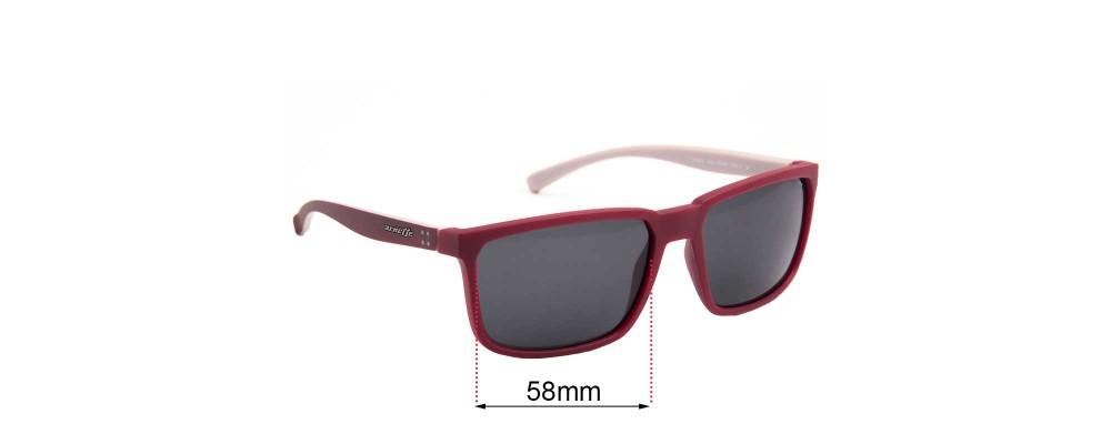 Sunglass Fix Sunglass Replacement Lenses for Arnette Stripe AN4251 - 58mm Wide