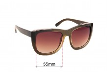 Sunglass Fix Sunglass Replacement Lenses for Chloe CE 659S - 55mm Wide