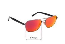 Sunglass Fix Sunglass Replacement Lenses for Ermenegildo Zegna EZ 0068 - 57mm Wide