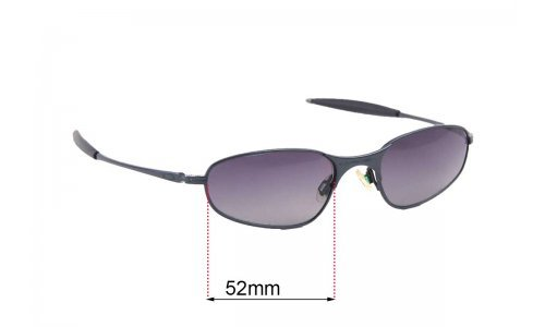 Sunglass Fix Sunglass Replacement Lenses for Oakley A-Wire RX - 52mm Wide