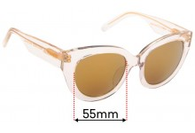Sunglass Fix Sunglass Replacement Lenses for Andrea Moore Flash Bright- 55mm Wide