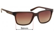 Sunglass Fix Sunglass Replacement Lenses for Armani Exchange AX 4026S - 56mm Wide