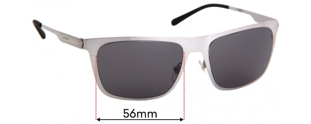 Sunglass Fix Replacement Lenses for Arnette Back Side AN3076 - 56mm Wide