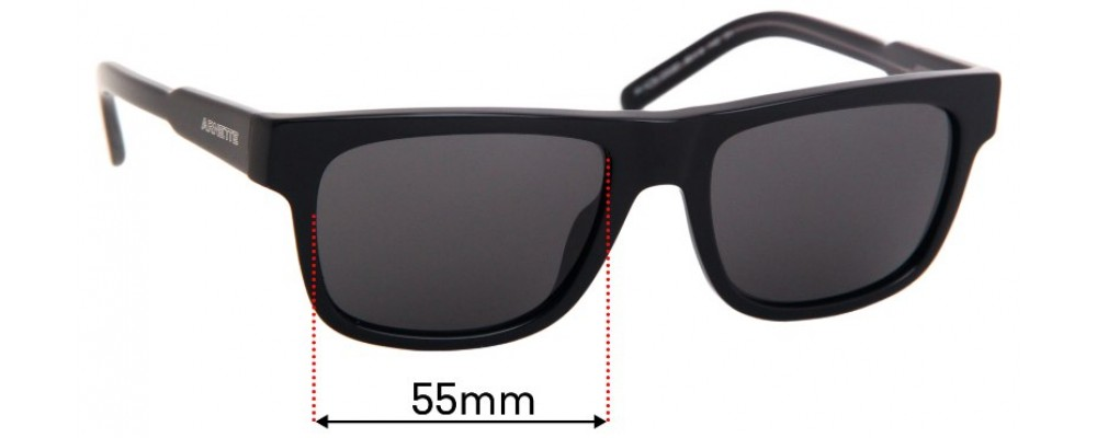 Sunglass Fix Replacement Lenses for Arnette Post Malone AN4279 - 55mm Wide