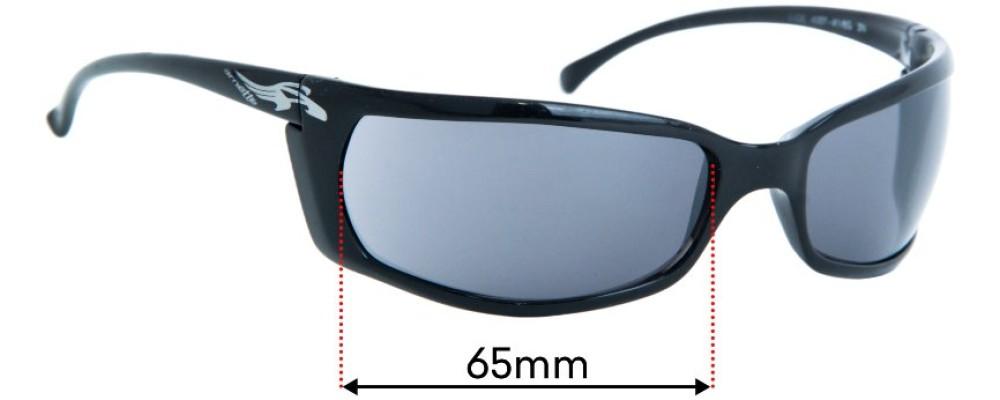Sunglass Fix Replacement Lenses for Arnette Slide AN4007 34mm Tall - 65mm Wide