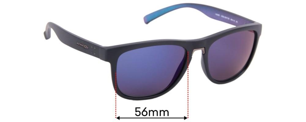 Sunglass Fix Replacement Lenses for Arnette Woke 4252 - 56mm Wide