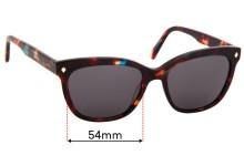 Sunglass Fix Sunglass Replacement Lenses for Carla Zampatti Sun Rx 01 - 54mm Wide
